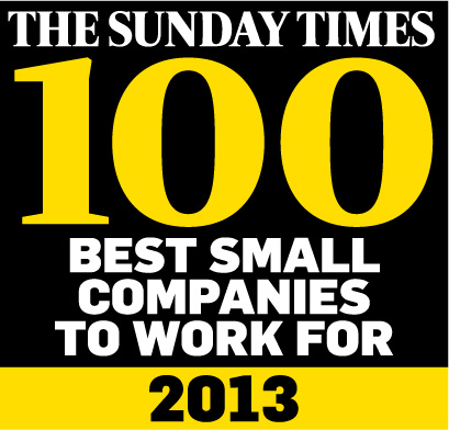 BE Offices has scooped 36th position in the prestigious Sunday Times '100 Best Small Companies to Work For'