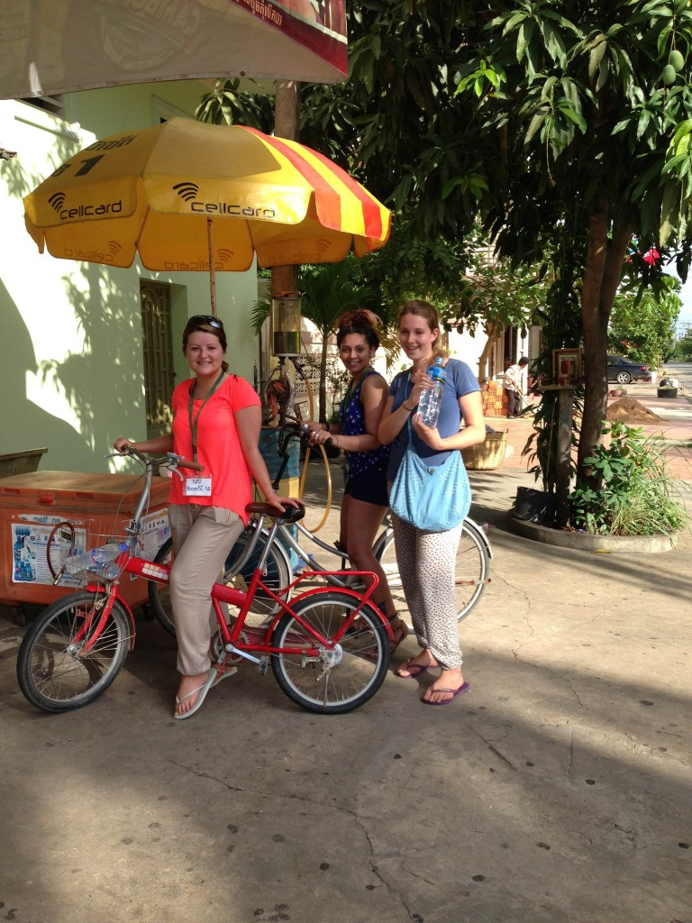 Charlotte volunteering in Cambodia