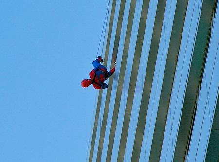 People watch Spiderman