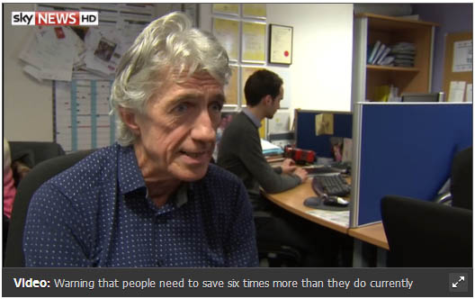 Sky News Interviews BE Offices on Pensions