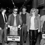 Harrison Ford, Stephen Spielberg and Kate Capshaw - Heathrow Airport - London