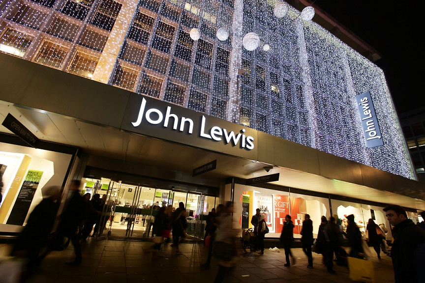 File photo dated 28/11/2014 of the exterior of John Lewis lit up for Christmas, on Oxford Street in central London. The retailer saw like-for-like sales lift 5.1% in the six weeks to January 2, but it relied on a 21.4% jump in online trade as comparable store sales dropped 1.2%.