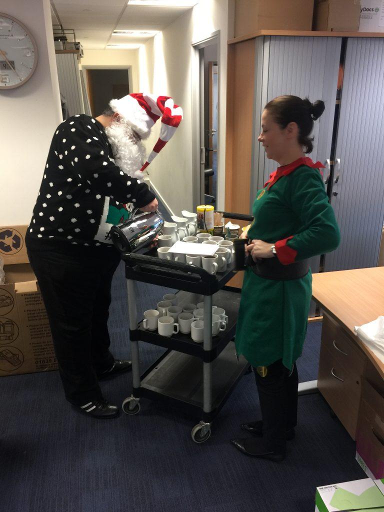 Santa and Elf Helper