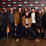 Cast and crew (L - R) Director Greg Nicotero, Seth Gilliam, Ross Marquand, Josh McDermitt, Norman Reedus, Alanna Masterson, Austin Amelio, Tom Payne and Jeff Ford attending Fox's A Night with the Walking Dead at the Hamyard Hotel, Soho, London.