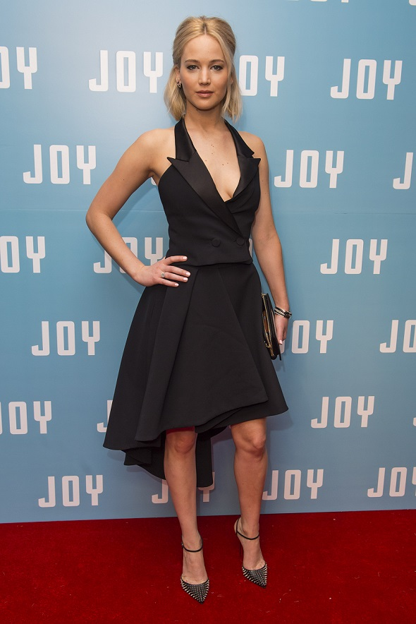 Jennifer Lawrence attends a special screening of Joy, at the Ham Yard Hotel in London.