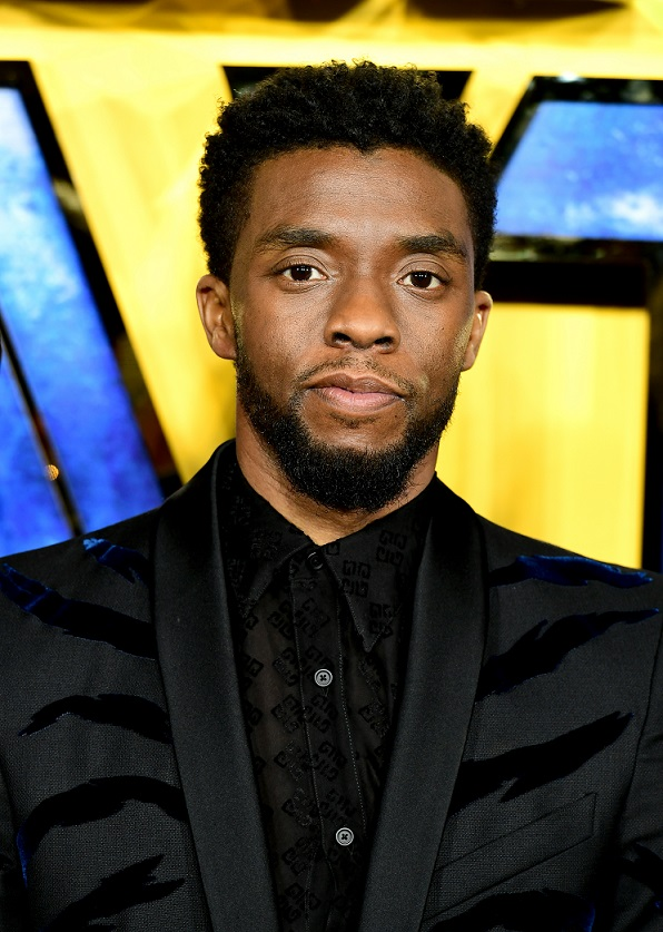 Chadwick Boseman attending The Black Panther European Premiere at The Eventim Apollo Hammersmith London.