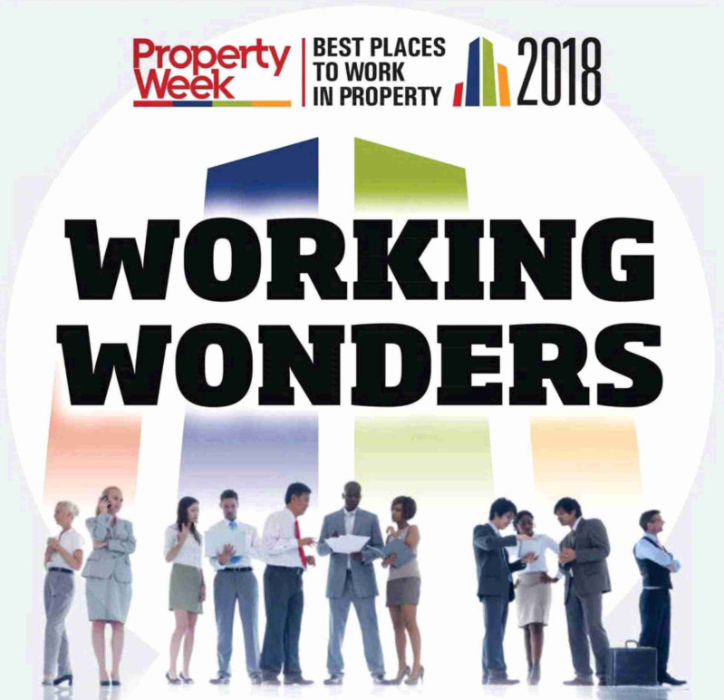 BE Offices voted one of the Best Places to Work in Property for second year running